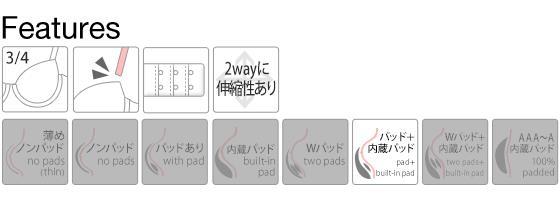 (ハラークイン) Harlequin 白鳩コラボ 華やかランジェリー★ビクトリア調刺繍ブラセット ABCD