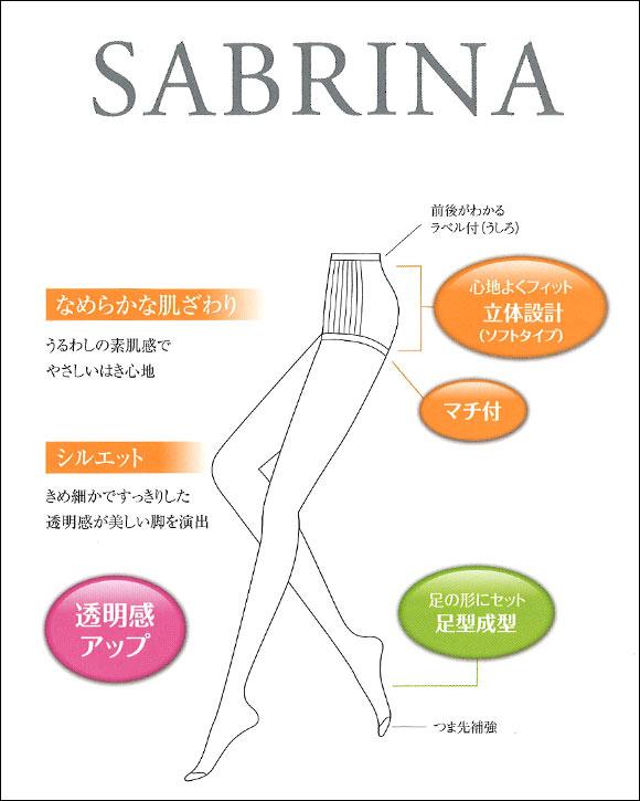 (サブリナ)SABRINA なめらか肌ざわり ストッキング 3足組