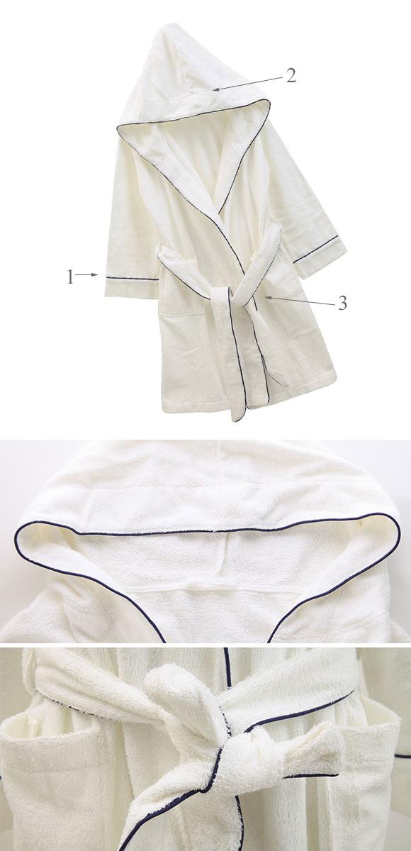 (ブルーミングフローラ)bloomingFLORA 綿パイル Bath Up シリーズ フード付 バスローブ