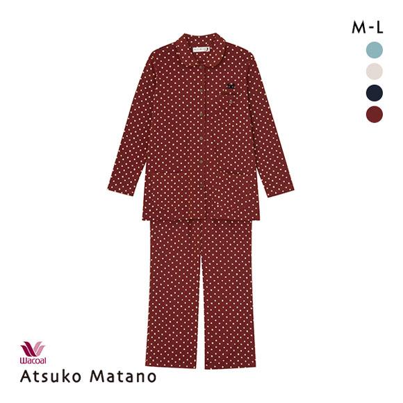 (ワコール)Wacoal (マタノアツコ)ATSUKO MATANO 長袖パジャマ上下セット ネコドット