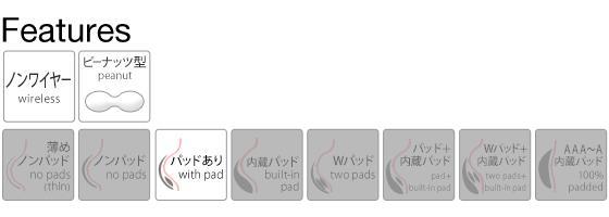 (ワコール)Wacoal (ゴコチ)GOCOCi CGG540 ラクに美胸キープ シームレス ノンワイヤーブラ ベンベルグ フラット ワイヤレスブラ SML