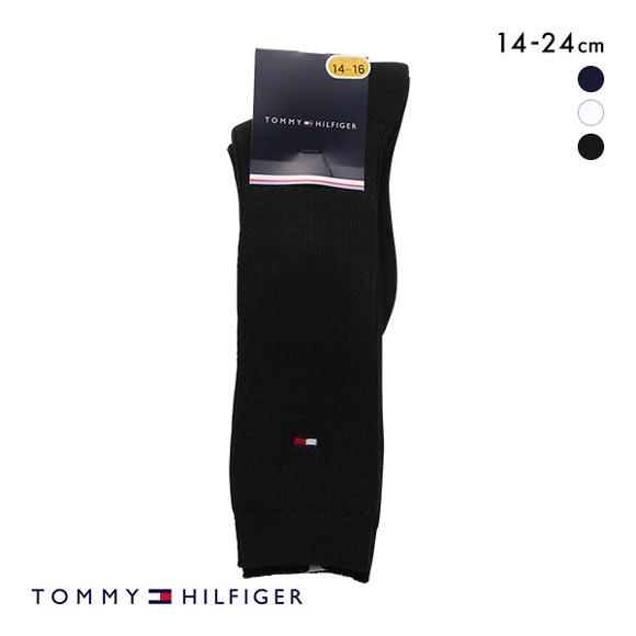 (トミー・ヒルフィガー)TOMMY HILFIGER KIDS リブ ハイソックス 日本製