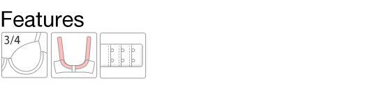 (モードマリー)Mode Marie 脇肉革命 よくばりフィット エルダーフラワー刺繍 3/4カップ ブラジャー 脇高 脇肉 下着 補正 補整 ハミ肉 単品
