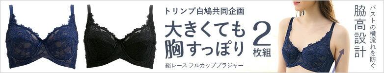 総レース フルカップ ブラジャー 2枚組 [ トリンプと白鳩の共同企画 ]