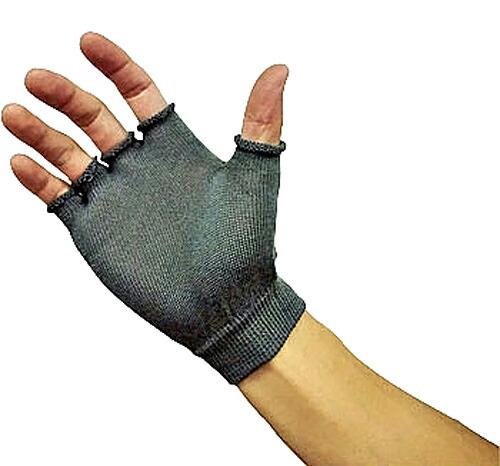 竹糸くん汗取りインナー手袋 指切りタイプ