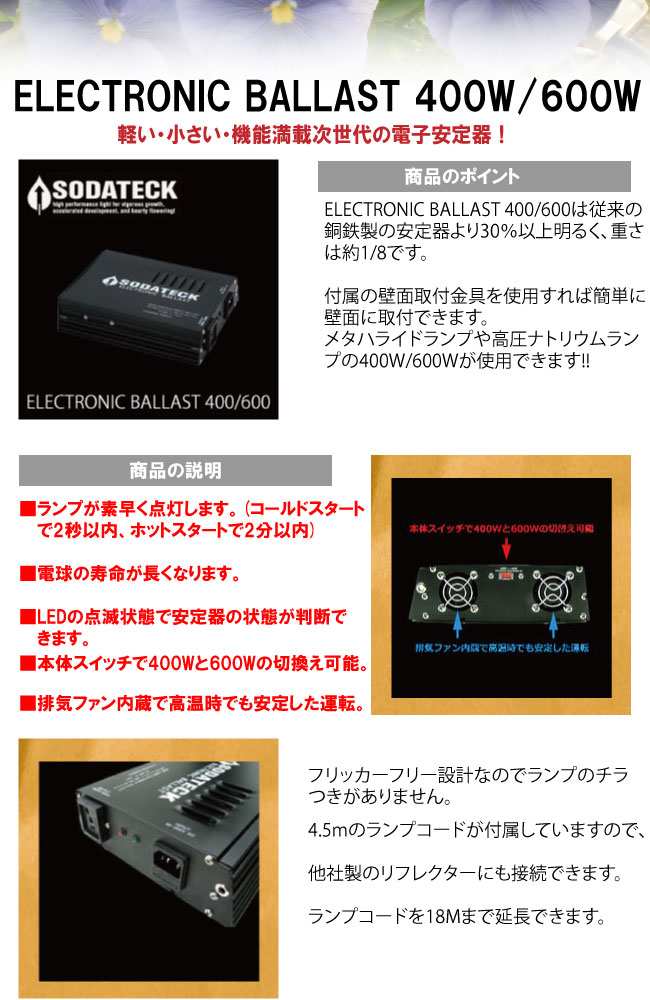 ソダテック電子安定器