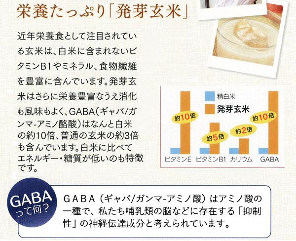 栄養たっぷり!発芽玄米!GABAとは?