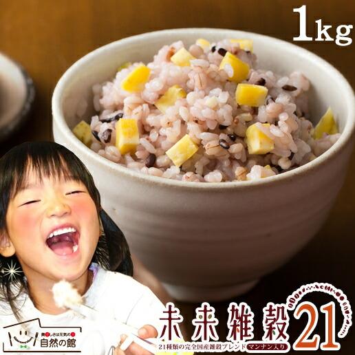 未来雑穀21+マンナン1kg(500g×2)