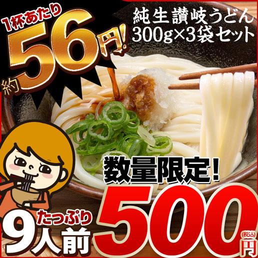 純生 讃岐うどん 9人前 (300g×3)