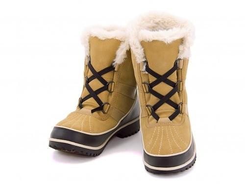 ソレルレディースショートブーツカジュアル防水防滑保温雨雪靴ティボリ2スウェードSORELTIVOLI2SUEDENL2089カレー
