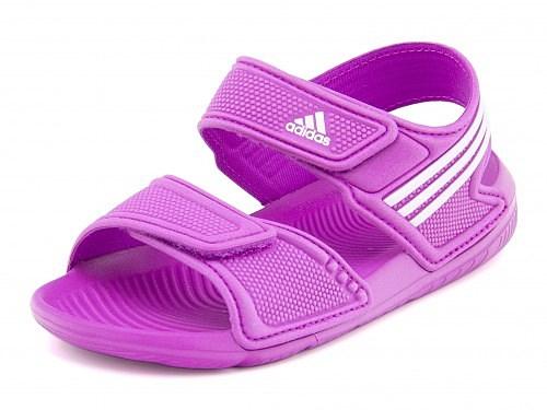 アディダス女の子男の子キッズ子供靴スポーツサンダルベルクロアクワAKWAH9KadidasB39856フラッシュピンク/ランニングホワイト/フラッシュピンク