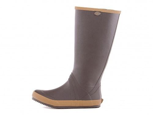 ディッキーズレディースパッカブルレインブーツ婦人長靴折りたためる携帯持ち運びコンパクト収納インヒール脚長美脚Dickies519001ダークブラウン