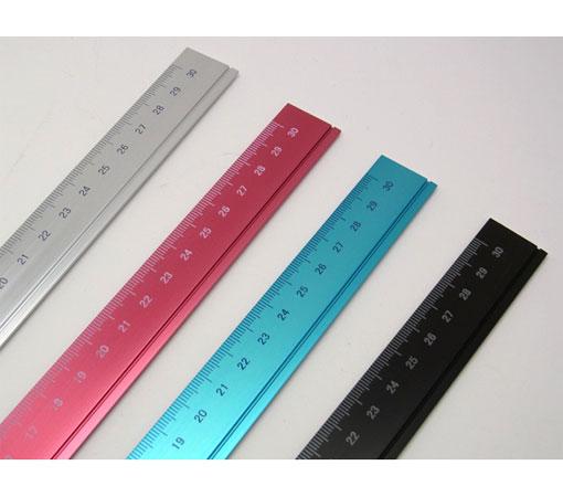 アルミ定規 30cm☆ミニマルデザインの機能美。アルミ削りだし定規☆