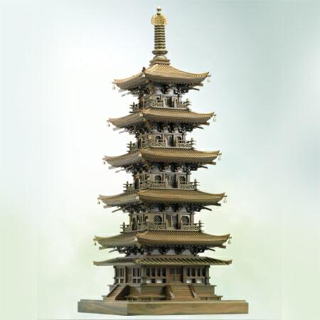 蒋先林 緑檀 五重塔