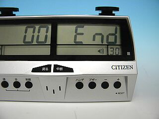 デジタル対局時計の写真