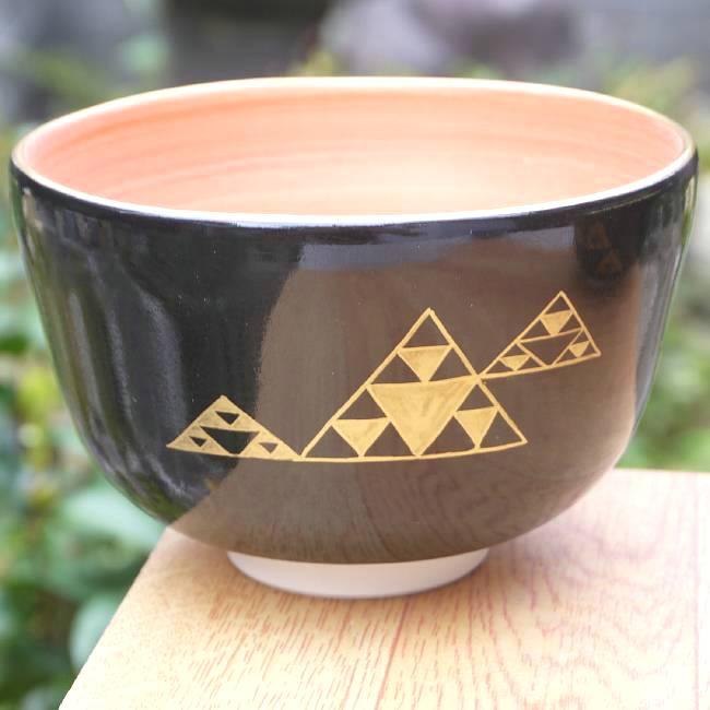 【京焼清水焼】抹茶茶碗干支蛇