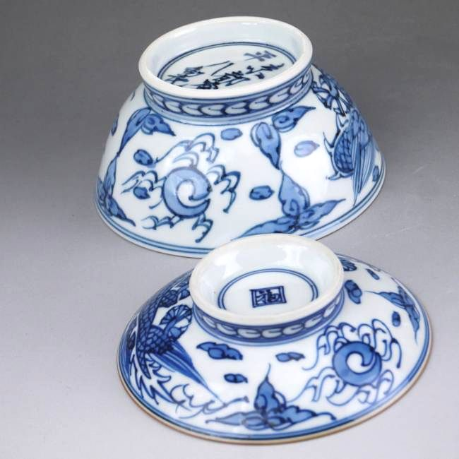 平八龍ご飯茶碗 蓋付【京焼 清水焼】