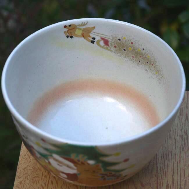 【京焼 清水焼】抹茶碗 サンタクロース 亨