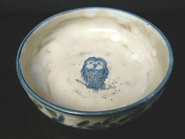 【京焼 清水焼】ふくろう菓子鉢