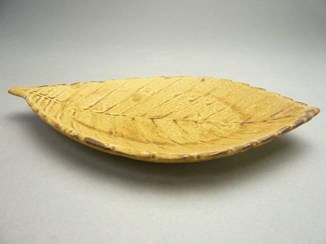 【京焼清水焼】かしわの葉