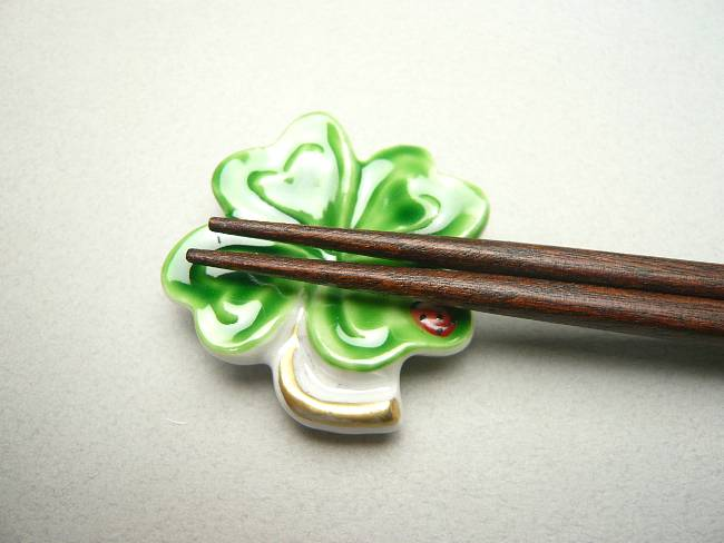 【京焼 清水焼】クローバ箸置き