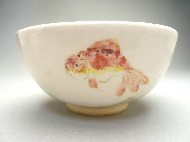 陶仙作金魚の湯呑み