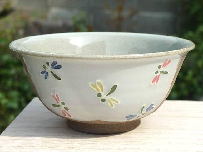 焼締クローバーご飯茶碗