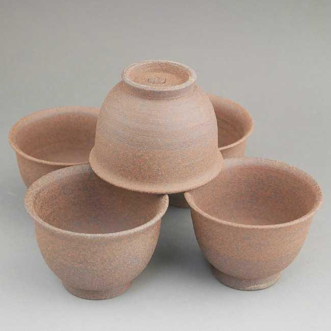 【京焼 清水焼】焼締煎茶碗 雅楽
