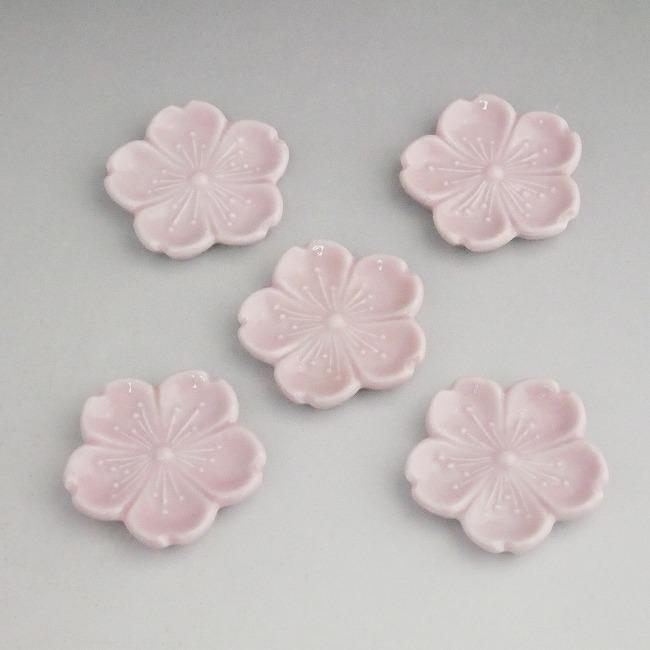 【京焼 清水焼】染付桜箸置き