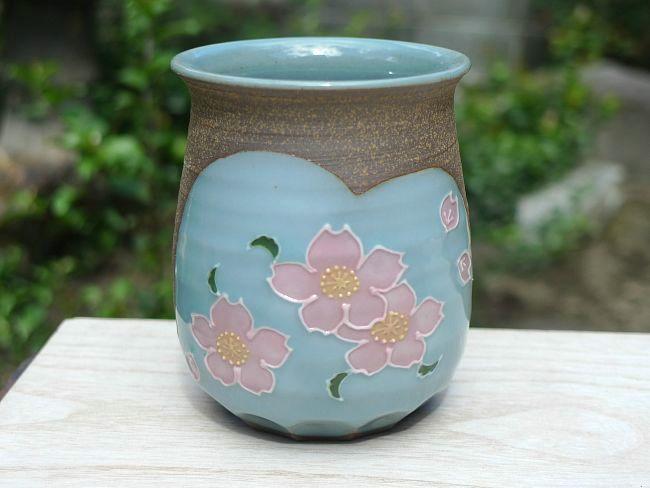 焼締桜湯のみ雅楽