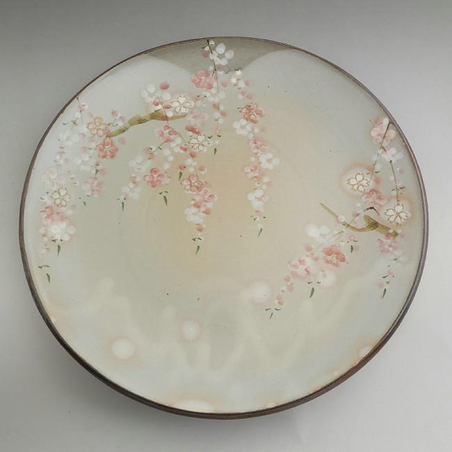 【京焼 清水焼】京の春尺皿