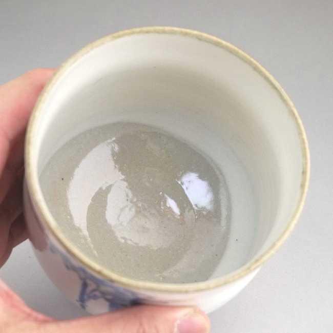 【京焼 清水焼】竹 筒茶碗・冬茶碗