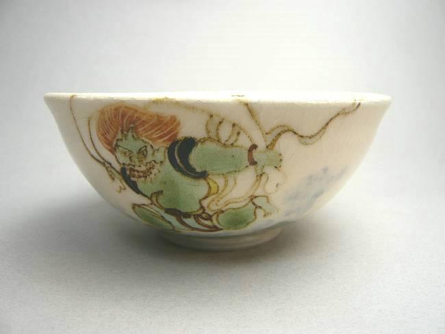 風神雷神 夫婦茶碗