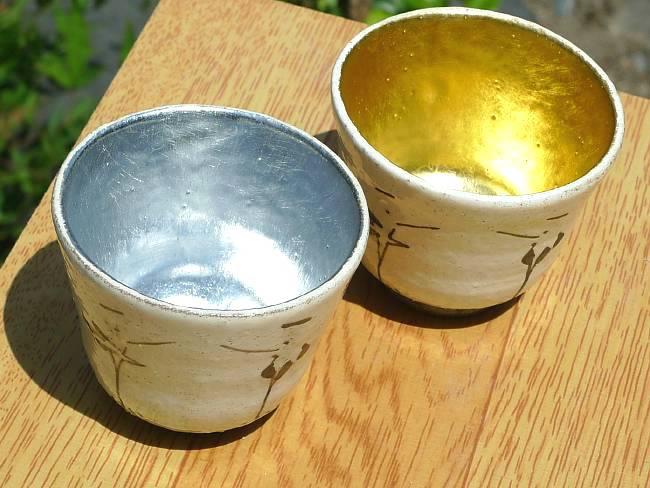 粉引唐草マグカップ