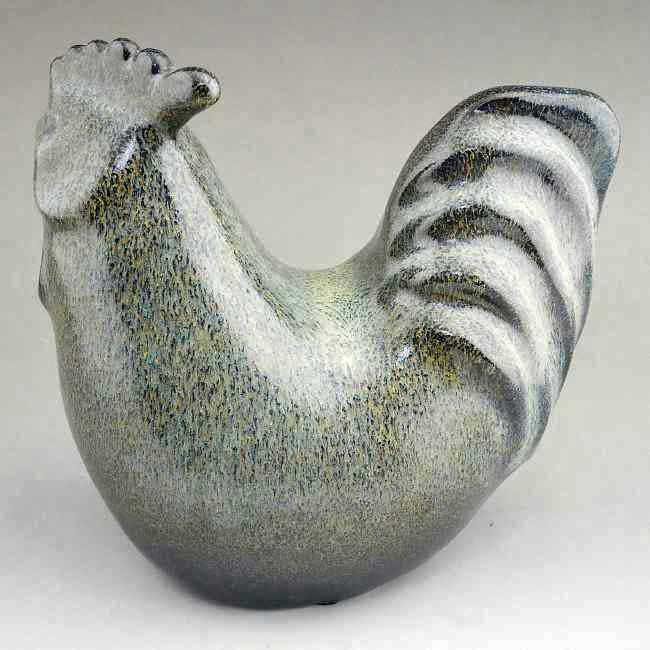 【京焼 清水焼】干支の丑の置物、作家 谷口正典作品