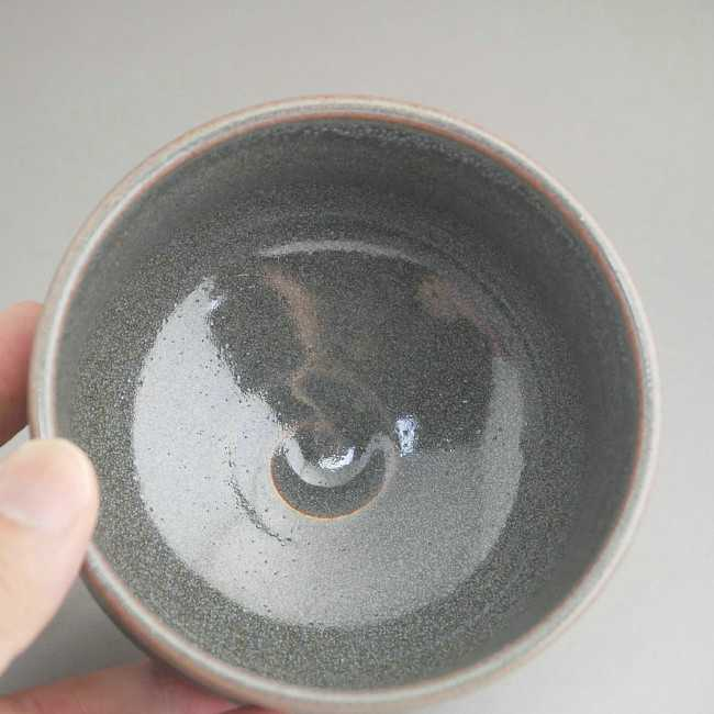 紫散らし 野点茶碗