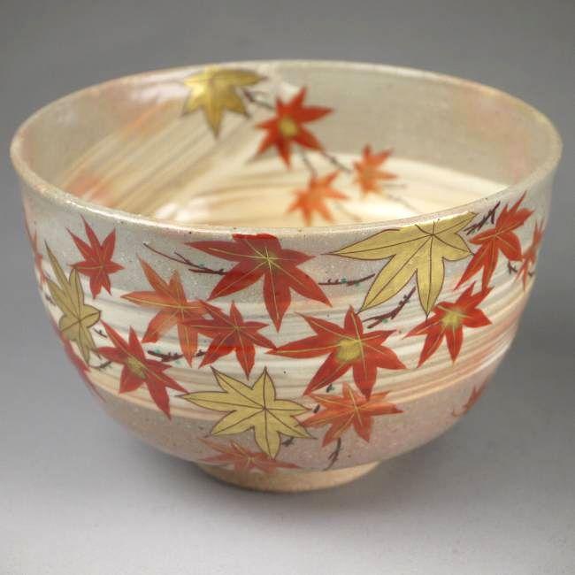 抹茶碗 紅葉