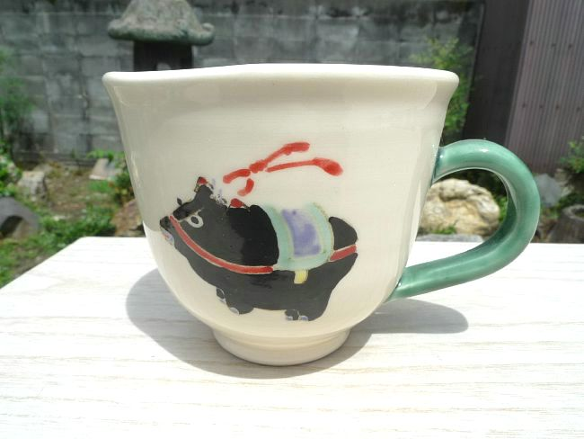 【京焼 清水焼】半磁器マグカップ
