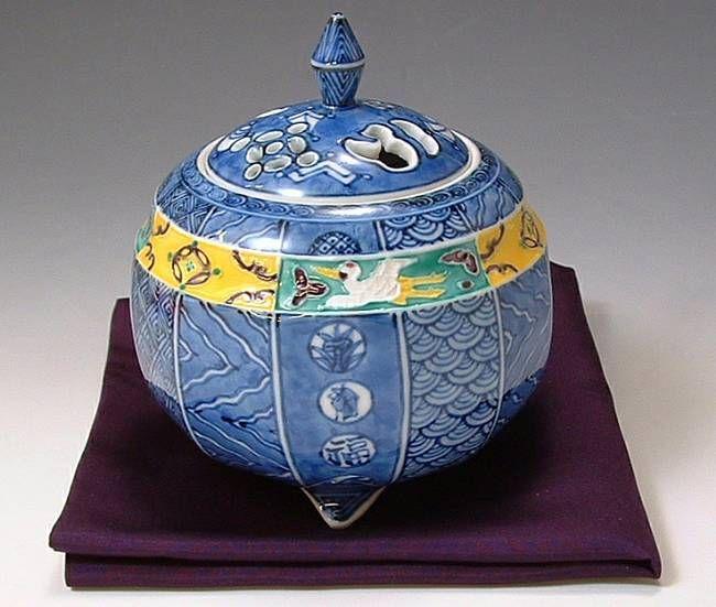 清水焼の昭阿弥香炉