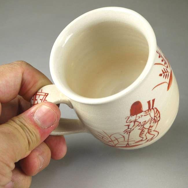京焼清水焼うさぎ夫婦湯飲み