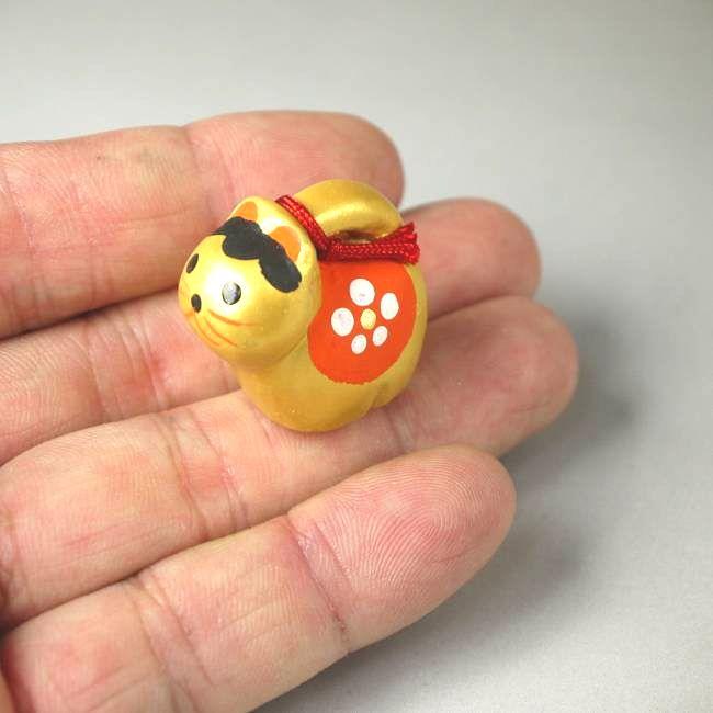 京陶人形 錦染の豆干支犬