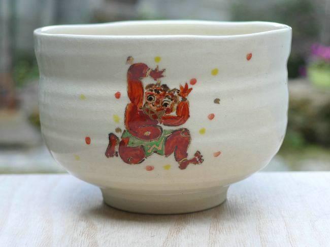 【京焼 清水焼】野点茶碗 豆まき