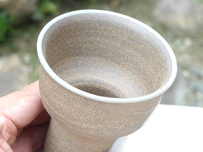 【京焼 清水焼】焼締ビアマグ