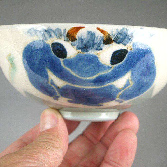 【京焼 清水焼】ご飯茶碗 赤鬼