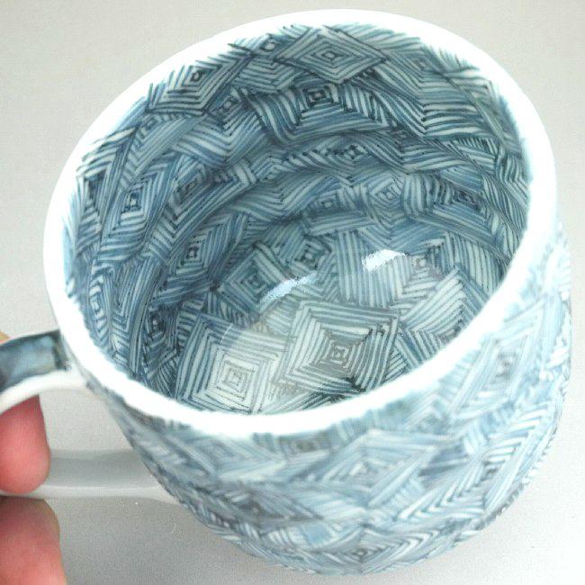 京焼清水焼 鳥獣戯画マグカップ