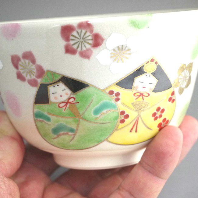 【京焼 清水焼】抹茶碗 あじさい