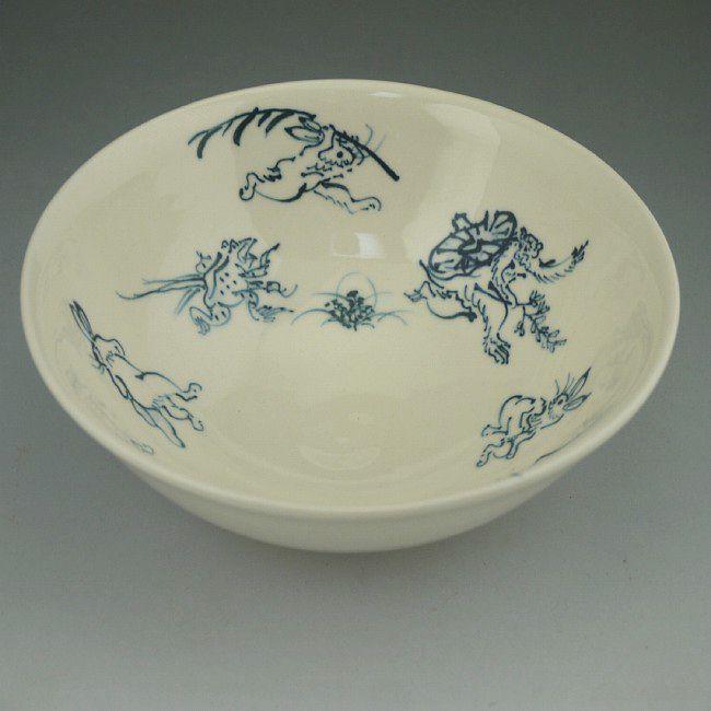 鳥獣戯画 抹茶碗