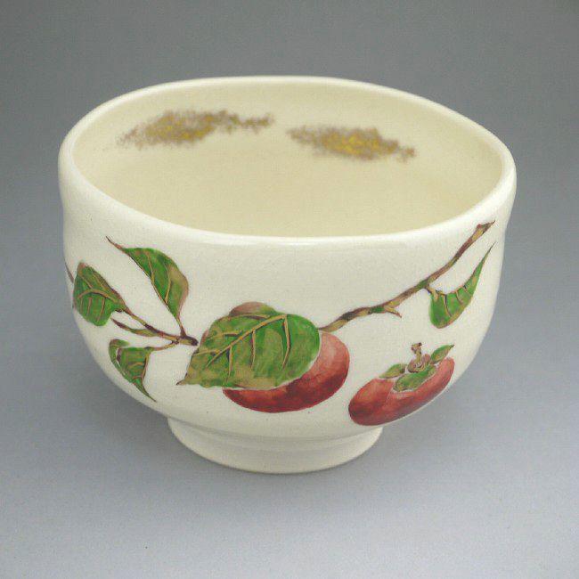 【京焼 清水焼】しだれ桜 野点茶碗 与し三