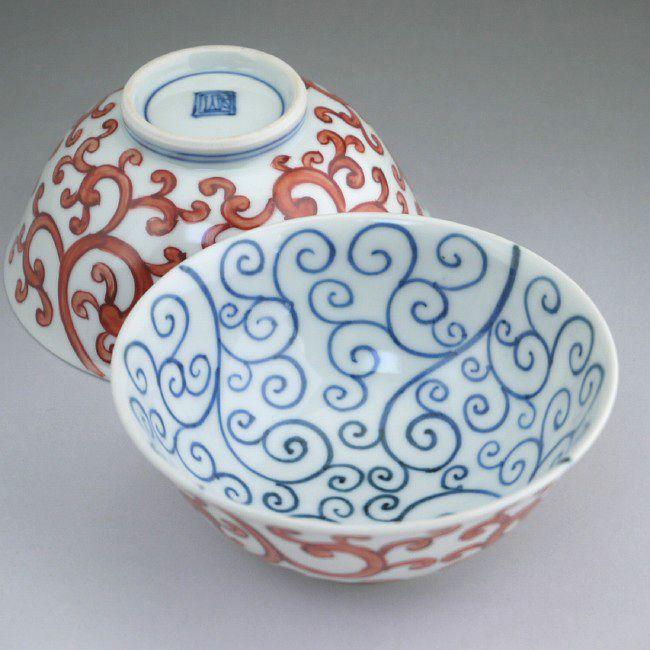 平八龍ご飯茶碗 【京焼 清水焼】