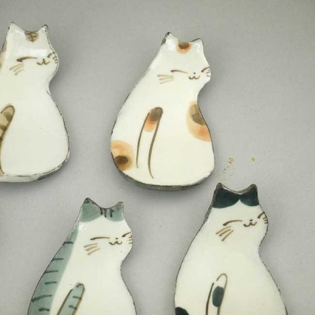 【京焼 清水焼】仔猫箸置き